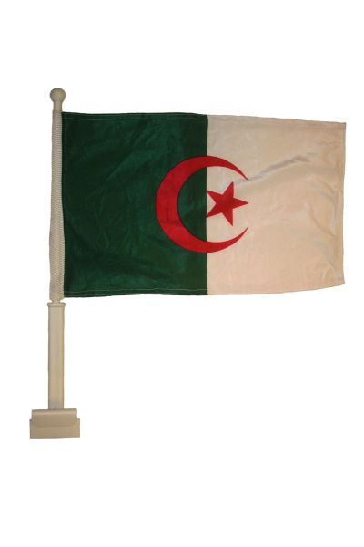 """ALGERIA 12"""" X 18"""" INCHES COUNTRY HEAVY DUTY WITH STICK CAR FLAG .. NEW AND IN A PACKAGE"""