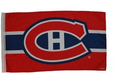 MONTREAL CANADIENS 3' X 5' FEET NHL HOCKEY LOGO FLAG BANNER .. NEW AND IN A PACKAGE