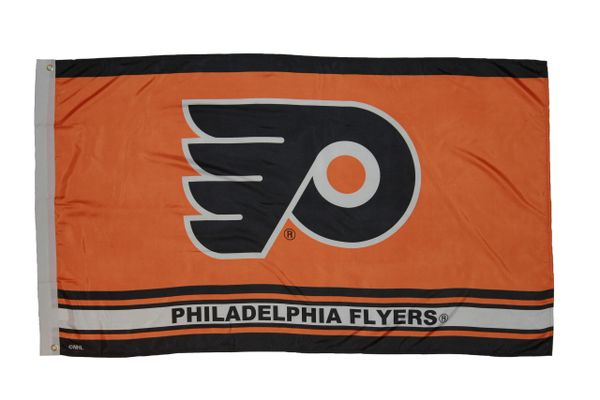 PHILADELPHIA FLYERS 3' X 5' FEET NHL HOCKEY LOGO FLAG BANNER .. NEW AND IN A PACKAGE