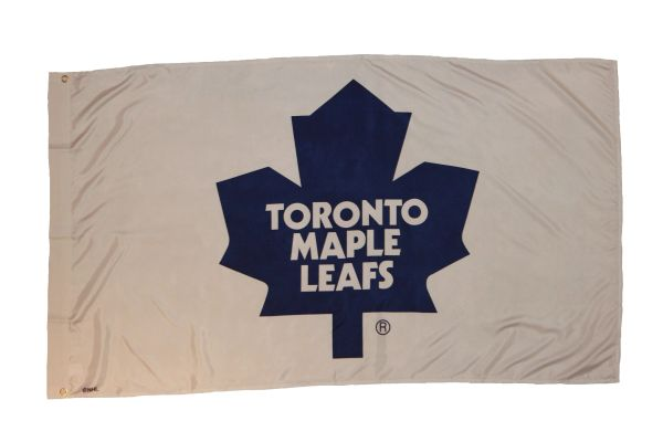 TORONTO MAPLE LEAFS 3' X 5' FEET NHL HOCKEY BLUE LOGO FLAG BANNER .. NEW AND IN A PACKAGE