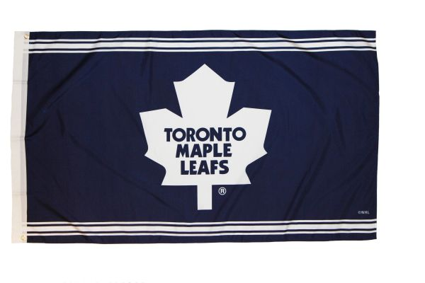 TORONTO MAPLE LEAFS 3' X 5' FEET NHL HOCKEY WHITE LOGO FLAG BANNER .. NEW AND IN A PACKAGE