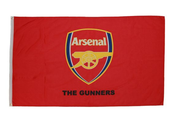 ARSENAL 3' X 5' FEET FIFA SOCCER WORLD CUP FLAG BANNER .. NEW AND IN A PACKAGE