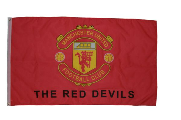 MANCHESTER UNITED 3' X 5' FEET FIFA SOCCER WORLD CUP FLAG BANNER .. NEW AND IN A PACKAGE