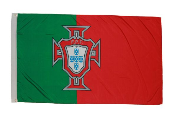 PORTUGAL FPF LOGO 3' X 5' FEET FIFA SOCCER WORLD CUP FLAG BANNER .. NEW AND IN A PACKAGE