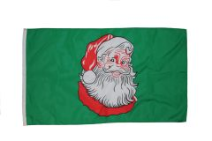 SANTA CLAUS 3' X 5' FEET PICTURE FLAG .. NEW AND IN A PACKAGE