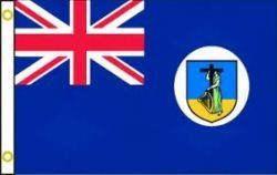 MONTSERRAT LARGE 3' X 5' FEET COUNTRY FLAG BANNER .. NEW AND IN A PACKAGE