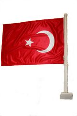 """TURKEY 12"""" X 18"""" INCHES COUNTRY HEAVY DUTY WITH STICK CAR FLAG .. NEW AND IN A PACKAGE"""