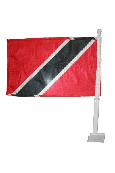 "TRINIDAD & TOBAGO 12"" X 18"" INCHES COUNTRY HEAVY DUTY WITH STICK CAR FLAG .. NEW AND IN A PACKAGE"