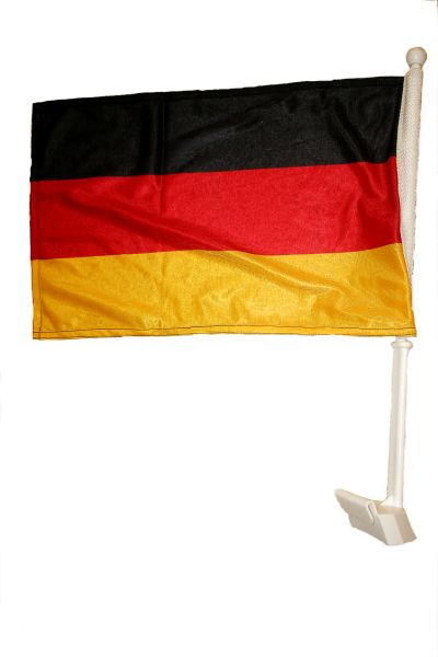 "GERMANY 12"" X 18"" INCHES COUNTRY HEAVY DUTY WITH STICK CAR FLAG .. NEW AND IN A PACKAGE"