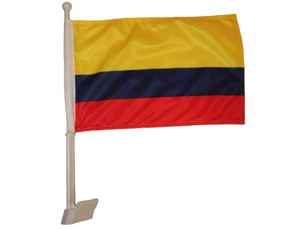 """COLOMBIA 12"""" X 18"""" INCHES COUNTRY HEAVY DUTY WITH STICK CAR FLAG .. NEW AND IN A PACKAGE"""