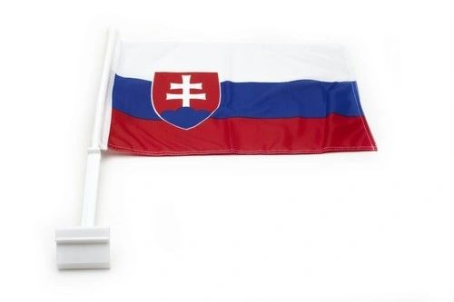 """SLOVAKIA 12"""" X 18"""" INCHES COUNTRY HEAVY DUTY WITH STICK CAR FLAG .. NEW AND IN A PACKAGE"""