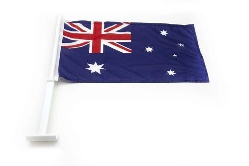"AUSTRALIA 12"" X 18"" INCHES COUNTRY FLAG HEAVY DUTY WITH STICK CAR FLAG .. NEW AND IN A PACKAGE"