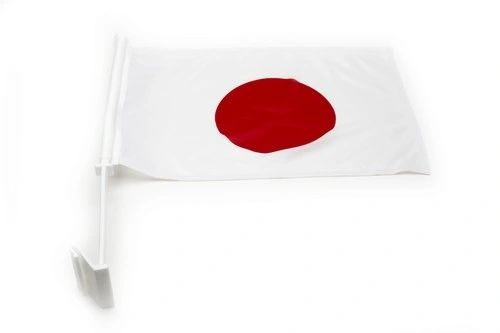 """JAPAN 12"""" X 18"""" INCHES COUNTRY FLAG HEAVY DUTY WITH STICK CAR FLAG .. NEW AND IN A PACKAGE"""