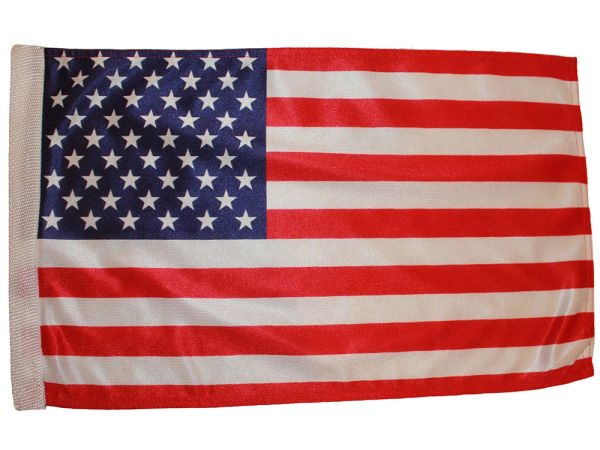 "USA 12"" X 18"" INCHES COUNTRY HEAVY DUTY WITH SLEEVE WITHOUT STICK CAR FLAG .. NEW AND IN A PACKAGE"