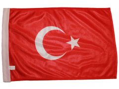 "TURKEY 12"" X 18"" INCHES COUNTRY HEAVY DUTY WITH SLEEVE WITHOUT STICK CAR FLAG .. NEW AND IN A PACKAGE"