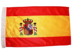 "SPAIN 12"" X 18"" INCHES COUNTRY HEAVY DUTY WITH SLEEVE WITHOUT STICK CAR FLAG .. NEW AND IN A PACKAGE"