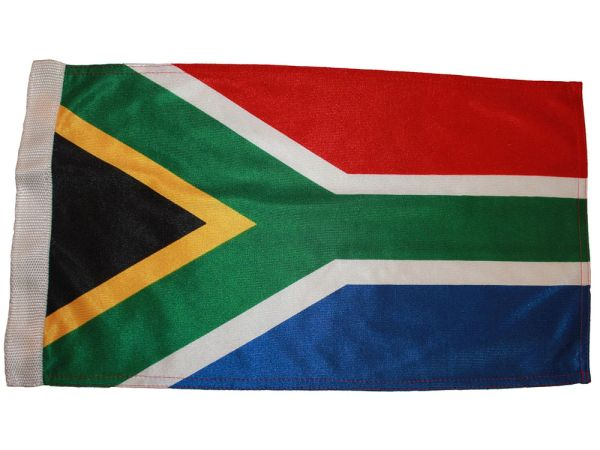 "SOUTH AFRICA 12"" X 18"" INCHES COUNTRY HEAVY DUTY WITH SLEEVE WITHOUT STICK CAR FLAG .. NEW AND IN A PACKAGE"