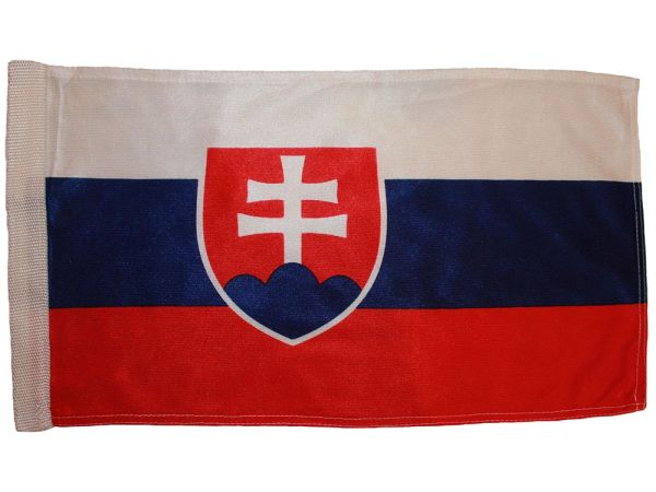 """SLOVAKIA 12"""" X 18"""" INCHES COUNTRY HEAVY DUTY WITH SLEEVE WITHOUT STICK CAR FLAG .. NEW AND IN A PACKAGE"""