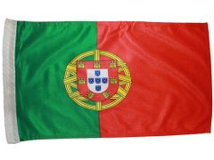 "PORTUGAL 12"" X 18"" INCHES COUNTRY HEAVY DUTY WITH SLEEVE WITHOUT STICK CAR FLAG .. NEW AND IN A PACKAGE"