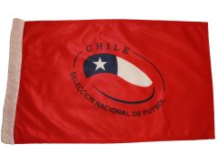 """CHILE SELECCION NACIONAL DE FUTBOL 12"""" X 18"""" INCHES FIFA SOCCER WORLD CUP HEAVY DUTY WITH SLEEVE WITHOUT STICK CAR FLAG .. NEW AND IN A PACKAGE"""