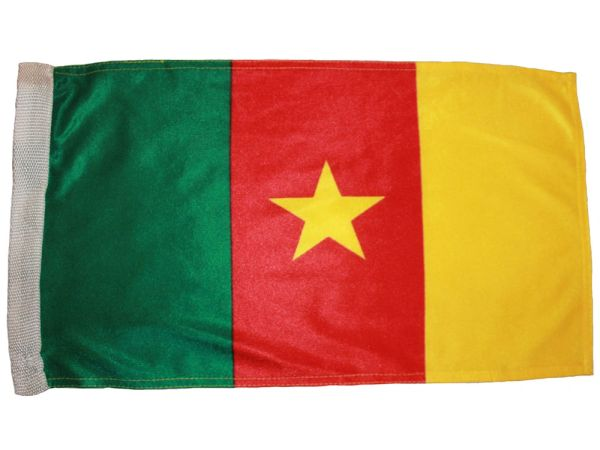 """CAMEROON 12"""" X 18"""" INCHES COUNTRY HEAVY DUTY WITH SLEEVE WITHOUT STICK CAR FLAG .. NEW AND IN A PACKAGE"""