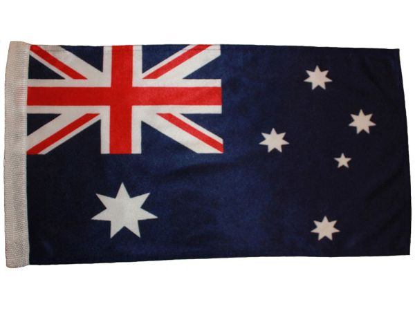 """AUSTRALIA 12"""" X 18"""" INCHES COUNTRY HEAVY DUTY WITH SLEEVE WITHOUT STICK CAR FLAG .. NEW AND IN A PACKAGE"""