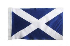 "SCOTLAND - ST. ANDREW 12"" X 18"" INCHES COUNTRY HEAVY DUTY WITH SLEEVE WITHOUT STICK CAR FLAG .. NEW AND IN A PACKAGE"