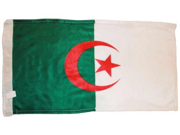 """ALGERIA 12"""" X 18"""" INCHES COUNTRY HEAVY DUTY WITH SLEEVE WITHOUT STICK CAR FLAG .. NEW AND IN A PACKAGE"""