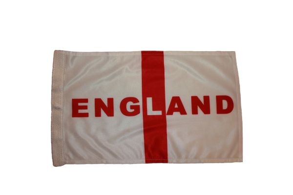 """ENGLAND 12"""" X 18"""" INCHES HEAVY DUTY WITH SLEEVE WITHOUT STICK CAR FLAG .. NEW AND IN A PACKAGE"""