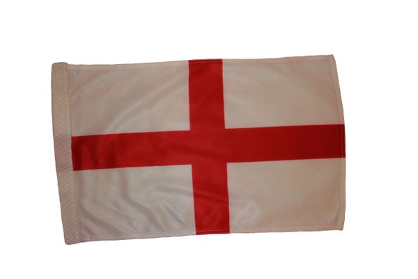 """ENGLAND 12"""" X 18"""" INCHES COUNTRY HEAVY DUTY WITH SLEEVE WITHOUT STICK CAR FLAG .. NEW AND IN A PACKAGE"""