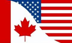 CANADA - USA LARGE 3' X 5' FEET COUNTRY FLAG BANNER .. NEW AND IN A PACKAGE