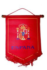 ESPANA SPAIN RED MEDIUM SIZE DOUBLE SIDED WALL MINI BANNER .. NEW AND IN A PACKAGE.