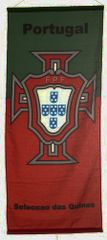 "PORTUGAL GREEN RED 46"" X 20"" INCHES FPF LOGO FIFA SOCCER WORLD CUP FLAG BANNER .. NEW AND IN A PACKAGE"
