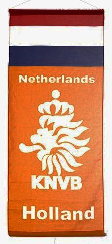 "NETHERLANDS HOLLAND COUNTRY FLAG 46"" X 20"" INCHES KNVB LOGO FIFA SOCCER WORLD CUP FLAG BANNER .. NEW AND IN A PACKAGE"