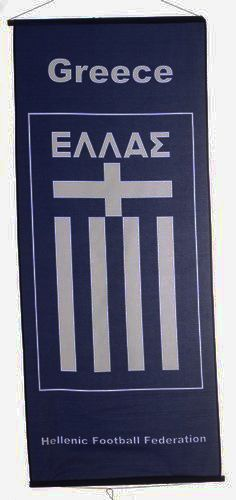 "GREECE HELLAS COUNTRY FLAG 46"" X 20"" INCHES FLAG BANNER .. NEW AND IN A PACKAGE"