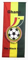 "GHANA ""GHANA FOOTBALL ASSOCIATION"" 46"" X 20"" INCHES FIFA SOCCER WORLD CUP FLAG BANNER .. NEW AND IN A PACKAGE"