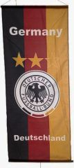 "GERMANY DEUTSCHLAND , 3 STARS 46"" X 20"" INCHES DEUTSCHER FUSSBALL - BUND FIFA SOCCER WORLD CUP BANNER FLAG .. NEW AND IN A PACKAGE"