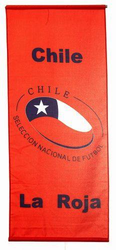 "CHILE ""LA ROJA"" 46"" X 20"" INCHES SELECCION NACIONAL DE FUTBOL FIFA SOCCER WORLD CUP FLAG BANNER .. NEW AND IN A PACKAGE"
