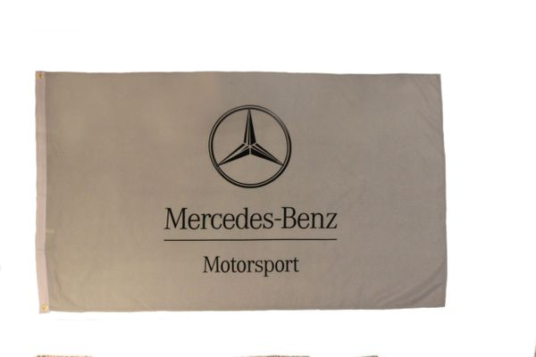 MERCEDES - BENZ MOTOSPORT LARGE 3' X 5' FEET FLAG BANNER .. NEW AND IN A PACKAGE