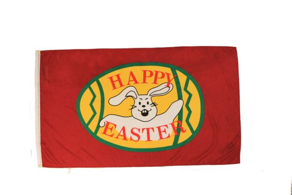 HAPPY EASTER LARGE 3' X 5' FEET FLAG BANNER .. NEW AND IN A PACKAGE