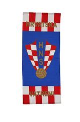 "CROATIA HRVATSKA ""VATRENI"" 46"" X 20"" INCHES HNS LOGO FIFA SOCCER WORLD CUP FLAG BANNER .. NEW AND IN A PACKAGE"