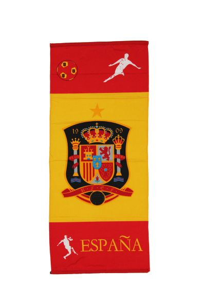 """ESPANA SPAIN 46"""" X 20"""" INCHES FIFA SOCCER WORLD CUP FLAG BANNER .. NEW AND IN A PACKAGE"""