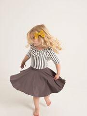 Gray Twirl Skirt - RTS