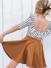 Camel Twirl Skirt - RTS