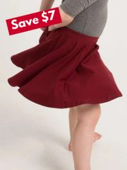 Burgundy Twirl Skirt - RTS