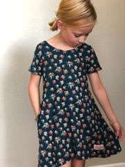 Janey dress in Dark Teal