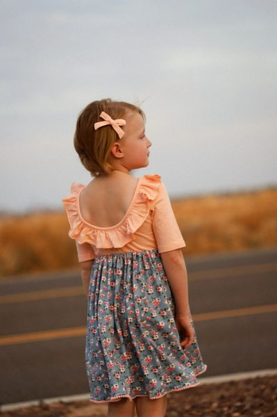 Dainty Floret - Ready to ship - handmade twirl dress