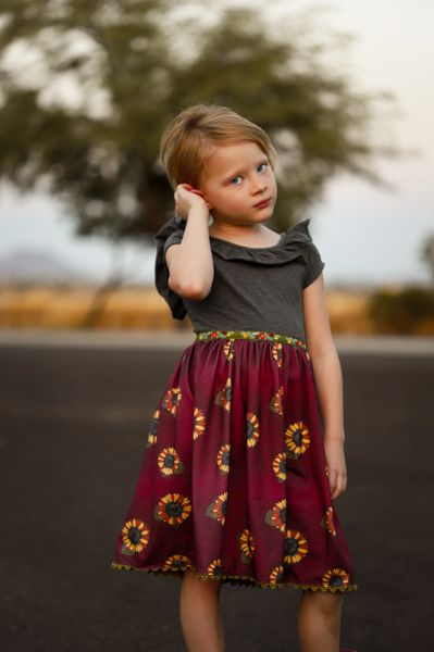 Sunflowers - Ready to Ship, handmade dress
