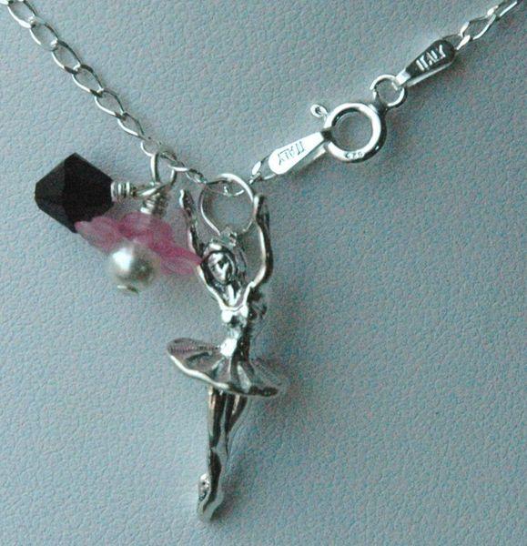 Sterling Silver Prima Ballerina Ballet Necklace, Ballet Necklace,Recital Gifts Necklace, Dancer, Dance Jewelry