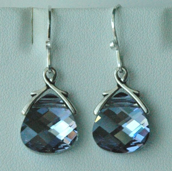 MaliBlue Large - Swarovski Crystal MaliBlue Earrings